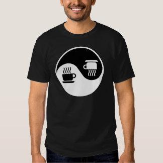 Ying e Yang do café T-shirt