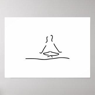 yoga joga meditation pôster
