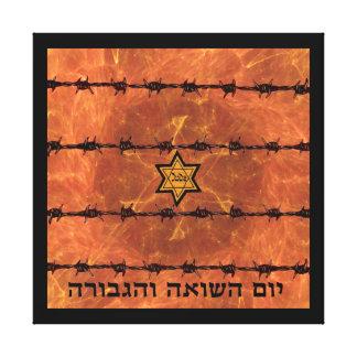 Yom HaShoah Impressão De Canvas Esticada