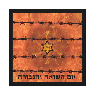 Yom HaShoah Impressão Em Tela
