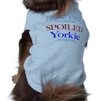 Yorkie estragado camisa sem mangas para cachorro