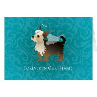 Yorkie - memorial do animal de estimação - cão do cartão