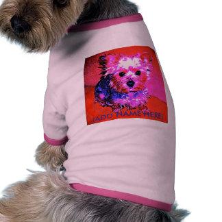 Yorkie nomeia o t-shirt do cão (da fêmea) roupa para cães