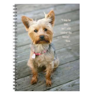 """yorkshire terrier caderno do jjhelene de """"Nina"""" -"""