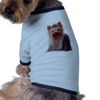 Yorkshire terrier camisa ringer para cachorro