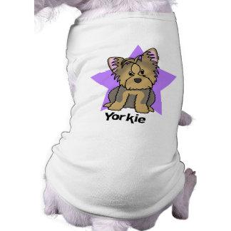 Yorkshire terrier da estrela de Kawaii Camisa Sem Mangas Para Cachorro