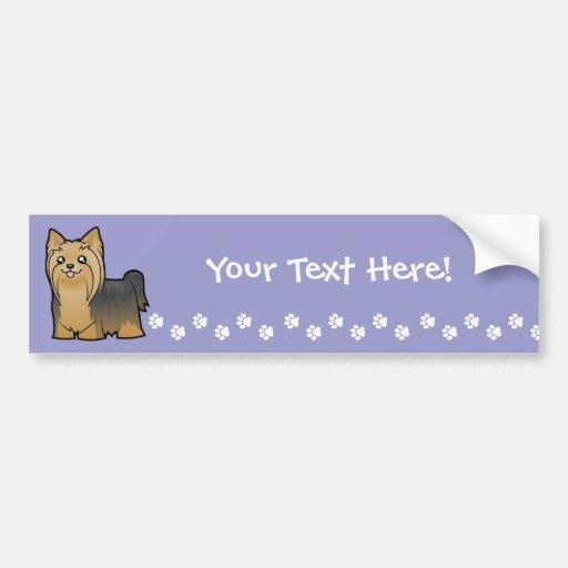 Yorkshire terrier dos desenhos animados (cabelo lo adesivos