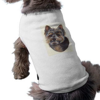 Yorkshire terrier pintado no Watercolour Camisa Sem Mangas Para Cachorro