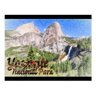 Yosemite que esboça o cartão cartão postal
