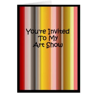 You' re convidado a minha mostra de arte cartão