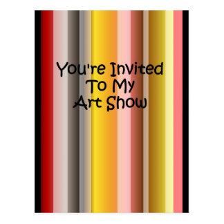 You' re convidado a minha mostra de arte cartão postal