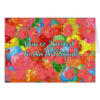 You' re convidado a uma mostra de arte cartão