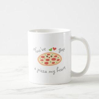 You've obteve a uma pizza meu coração chalaça caneca de café