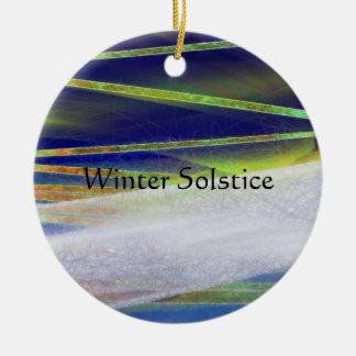 Yule claro ártico do ornamento do solstício de