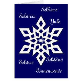 Yule - solstício - é universal cartão comemorativo