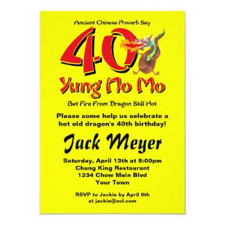 Yung nenhum aniversário de 40 anos do Mo Convites Personalizados