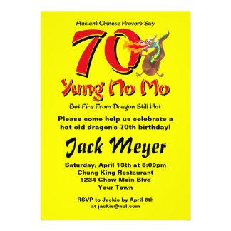 Yung nenhum aniversário do 70 do Mo Convites Personalizados
