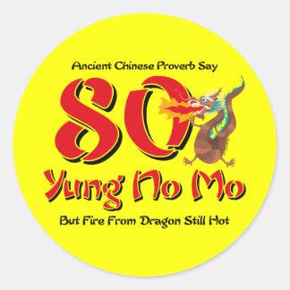 Yung nenhum aniversário do 80 do Mo Adesivo Em Formato Redondo