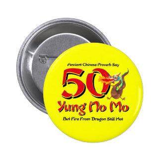 Yung nenhum aniversário do Mo 50th Bóton Redondo 5.08cm