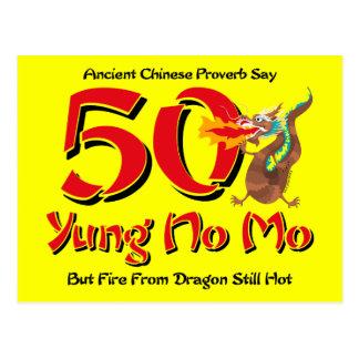 Yung nenhum convite do cartão do aniversário do Mo Cartao Postal