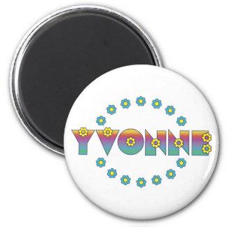 Yvonne no arco-íris de Flores Imã