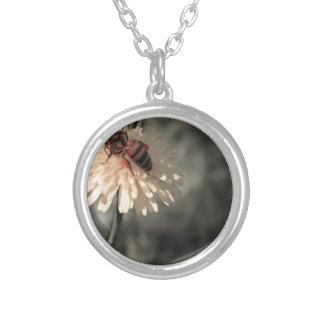 Zangão na flor colar banhado a prata
