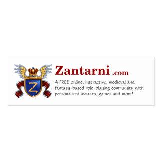 Zantarni.com Cartão De Visita Skinny