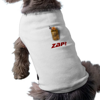 Zap a camisa do Doggy Camisa Sem Mangas Para Cachorro