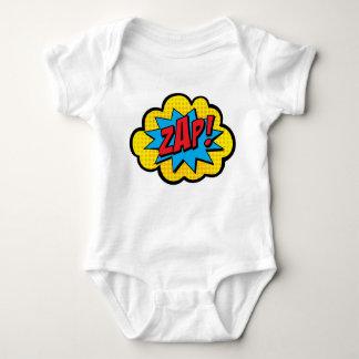 Zap! Bodysuit do bebê da banda desenhada Body Para Bebê