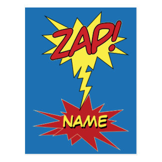 ZAP! cartão feito sob encomenda Cartão Postal