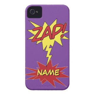 ZAP! case mate feita sob encomenda do iPhone Capas Para iPhone 4 Case-Mate