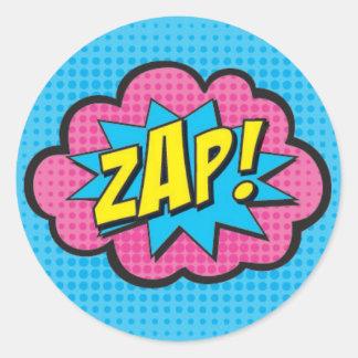 ZAP! Etiquetas GV2 do super-herói Adesivo