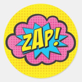 ZAP! Etiquetas GV@ do super-herói Adesivo