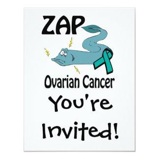 ZAP o câncer de ovário Convites Personalizado