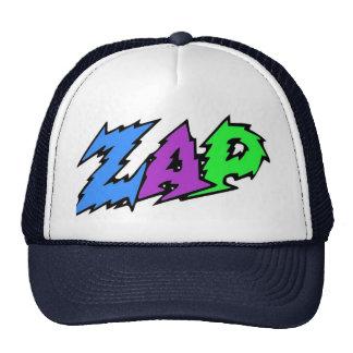 ZAP o chapéu azul, o roxo e o verde Bonés