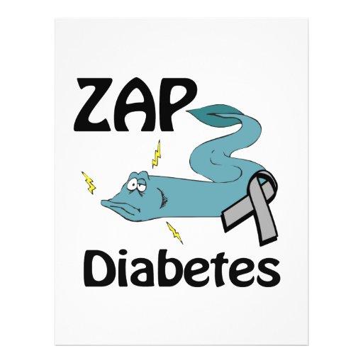 ZAP o diabetes Panfleto Personalizados