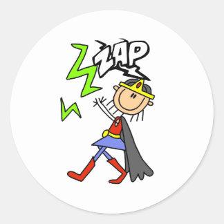 ZAP o herói da menina Adesivo