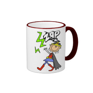 ZAP o herói da menina Caneca Com Contorno