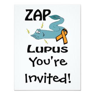 ZAP o lúpus (alaranjado) Convites Personalizado