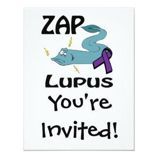 ZAP o lúpus (roxo) Convites Personalizado