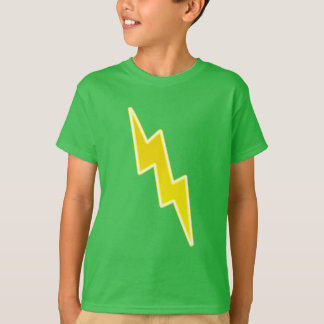 Zap - o parafuso de relâmpago amarelo camiseta
