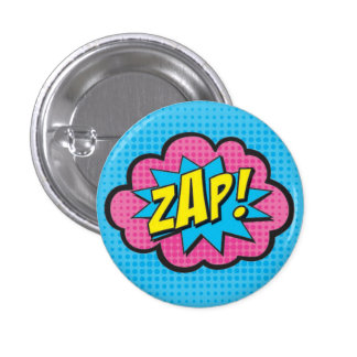 ZAP! Pin GV2 do super-herói Bóton Redondo 2.54cm