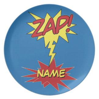 ZAP! placa feita sob encomenda Louça De Jantar