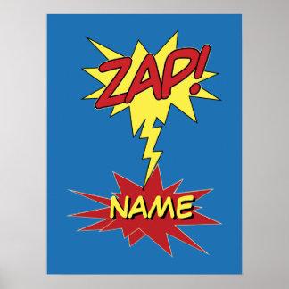 ZAP! poster feito sob encomenda