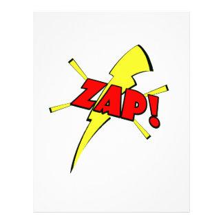 Zap, sfx dos desenhos animados papel de carta