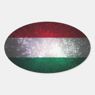 Zászló do Magiar Adesivo Oval