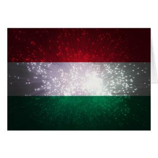 Zászló do Magiar Cartão De Nota