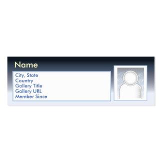 Zazzle escuro - magro cartão de visita skinny