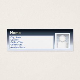 Zazzle escuro - magro cartão de visitas mini