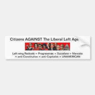 zazzle.jpg, cidadãos CONTRA a esquerda liberal A… Adesivo Para Carro